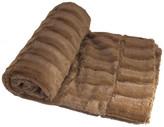 "Boon Throw & Blanket Saga Double Sided Faux Fur Throw, Taupe, 60""x80"""