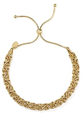 Argentovivo Woven Chain Adjustable Bracelet in 18K Gold-Plated Sterling Silver
