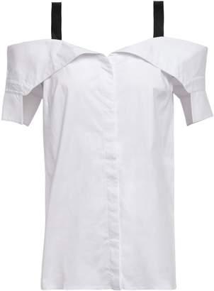 Bailey 44 Cold-shoulder Cotton-blend Poplin Shirt