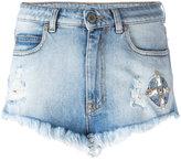 Marcelo Burlon County of Milan Ceth denim shorts - women - Cotton/Polyester/Spandex/Elastane/Zamak - 26