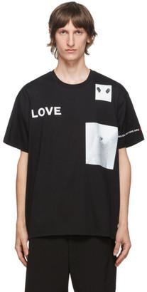 Burberry Black Love Panda Print T-Shirt