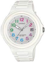 Casio Womens White Bezel White Strap Solar Sport Watch LXS700H-7B2V