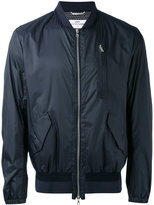 Oamc zipped bomber jacket - men - Cotton/Calf Leather/Nylon/Viscose - L
