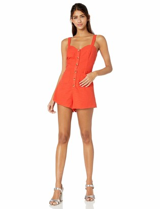 The Fifth Label Women's Realism Sleeveless Buttondown Romper Playsuit
