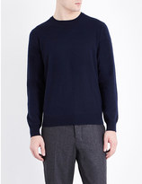 Pringle Crewneck suede elbow patch cashmere jumper