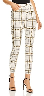 7 For All Mankind Chain Print Skinny Jeans