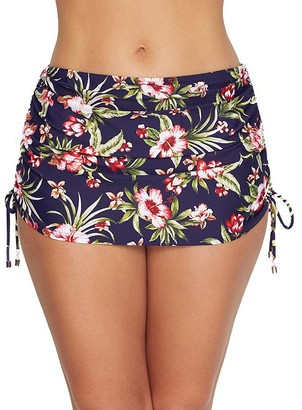 Birdsong Hibiscus Bloom Skirted Bikini Bottom