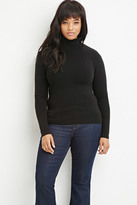Forever 21 FOREVER 21+ Plus Size Ribbed Turtleneck Sweater