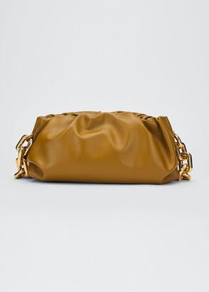 Bottega Veneta Medium Ruched Napa Chain Clutch Bag