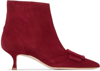 Manolo Blahnik Baylow 50mm suede ankle boots