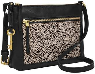 Fossil Fiona E/W Crossbody Handbags White Cheetah