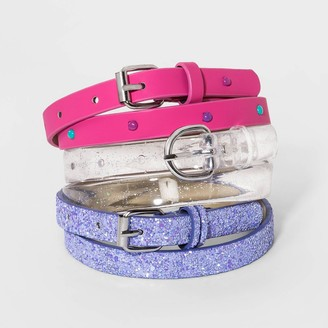 Cat & Jack Girl' 3pk Belt - Cat & JackTM