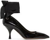 Miu Miu Black Grommet & Ribbon Heels
