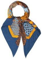 Hermes Art Des Steppes Cashmere Silk Shawl