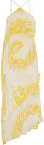 Halston Tiered silk gown