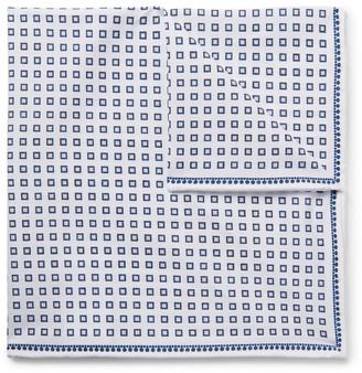 Brunello Cucinelli Printed Cotton Pocket Square