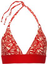 adidas by Stella McCartney Printed triangle bikini top