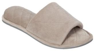 Dearfoams Women's Velour Slide Slipper with Microfiber