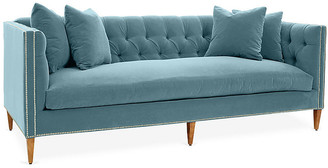 One Kings Lane Moreau Sofa - Light Blue Crypton