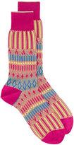 Ayame pink Basket Lunch patterned socks