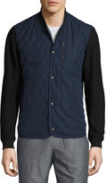 Vince Quilted Bomber Jacket, Navy