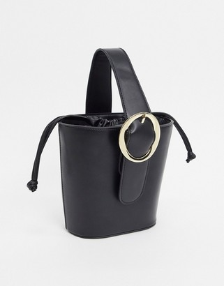 French Connection Faux Leather Mini Bucket Bag