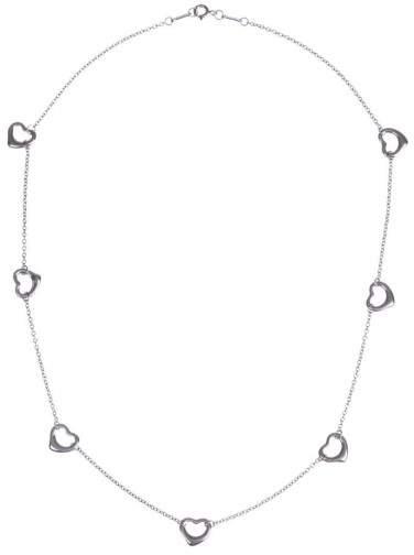 Tiffany & Co. Elsa Peretti Sterling Silver Open Heart Necklace