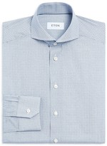 Eton of Sweden Mini Squares Slim Fit Dress Shirt