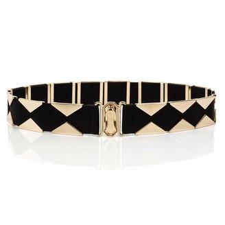 Coucoland Womens Waist Belt Elastic Stretchy Belt Vintage Skinny Waist Belt Black Dress Belt for Ladies (Style 1)