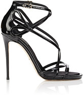 Dolce & Gabbana Women's Patent Leather Strappy Sandals-BLACK