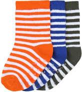 Joe Fresh Baby Boys' 3 Pack Stripe Print Socks, Multi (Size 12-24)
