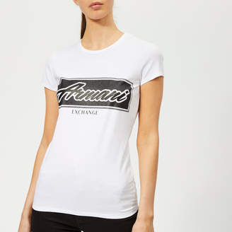 Armani Exchange Women's Crew Neck Logo T-Shirt