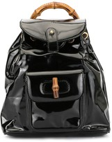 Gucci Pre Owned bamboo handle backpack