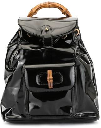 Bamboo Handle Backpack