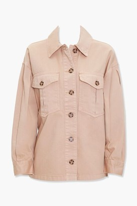 Forever 21 Pleat-Sleeve Cargo Jacket