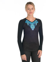 SnowAngel Women's Snow Angel Veluxe Paisley V-Neck Base Layer Top