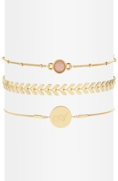 brook & york 14K Gold Plated Wren Initial Bracelet Set