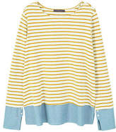 Violeta BY MANGO Striped combi sweatshirt