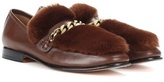 Boyy Loafur leather and fur loafers
