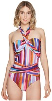 Athena Kaliedostripe Ashlyn Molded Cup One-Piece Women's Swimsuits One Piece
