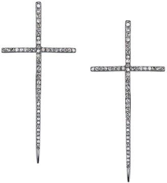 Sheryl Lowe Spike Cross Pave Diamond Earrings
