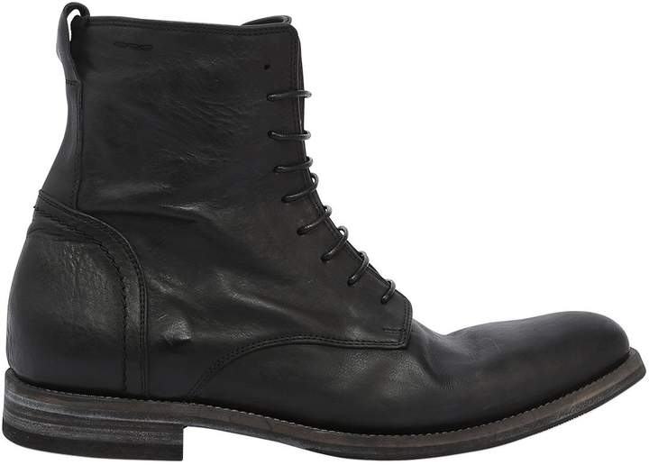 Alexander Hotto Washed Leather Lace-Up Boots
