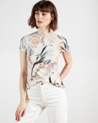 Ted Baker JERIKKO Decadence print fitted Tee