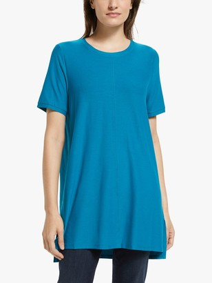 Eileen Fisher Crepe Short Sleeve Tunic Top