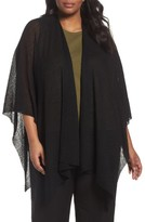 Eileen Fisher Plus Size Women's Hemp Blend Poncho Wrap