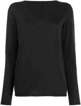 Iris von Arnim V-neck knitted jumper