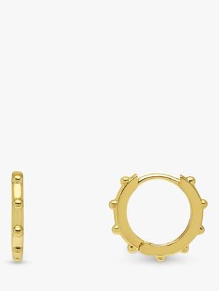 Estella Bartlett Granulated Huggy Hoop Earrings, Gold