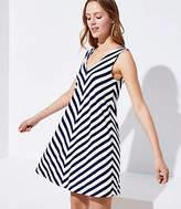 LOFT Petite Chevron Sleeveless Swing Dress