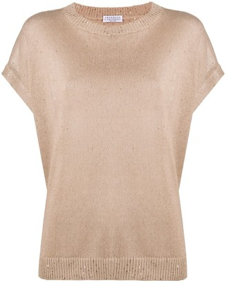Brunello Cucinelli Dropped Shoulder Knitted Top