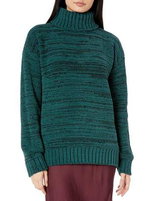 BCBGMAXAZRIA Women's Marled Turtleneck Sweater